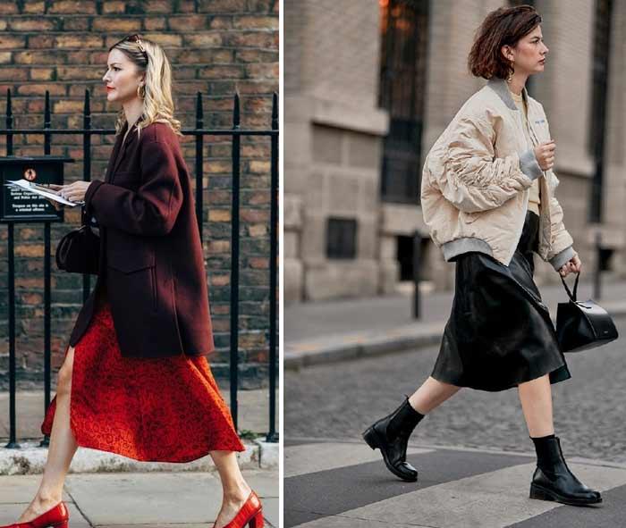 Модные юбки осени с недель моды