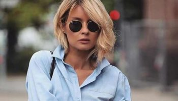 Женская белая и голубая рубашка – как носить модный бестселлер?
