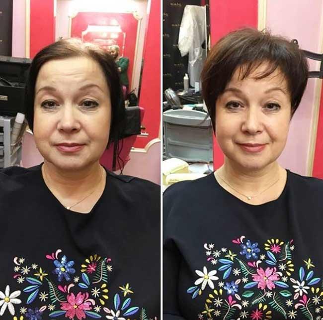 Преображение клиентки на лицо