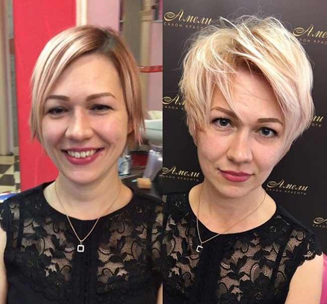 Короткая стрижка, увеличивающие объем волос