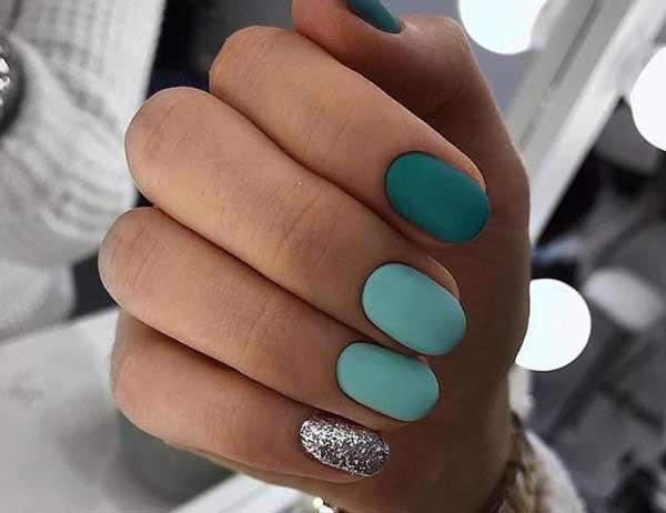 Осенние дизайны для коротких ногтей