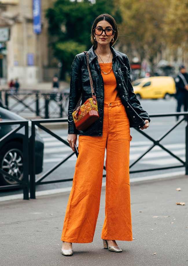 Апельсиновый цвет как носить осенью