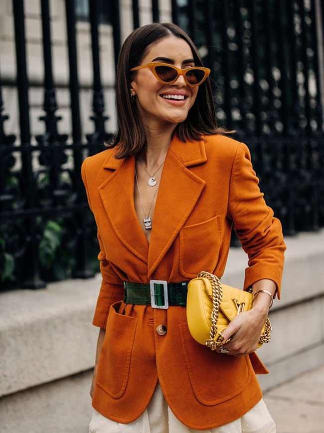Оранжевый цвет - образы для осени