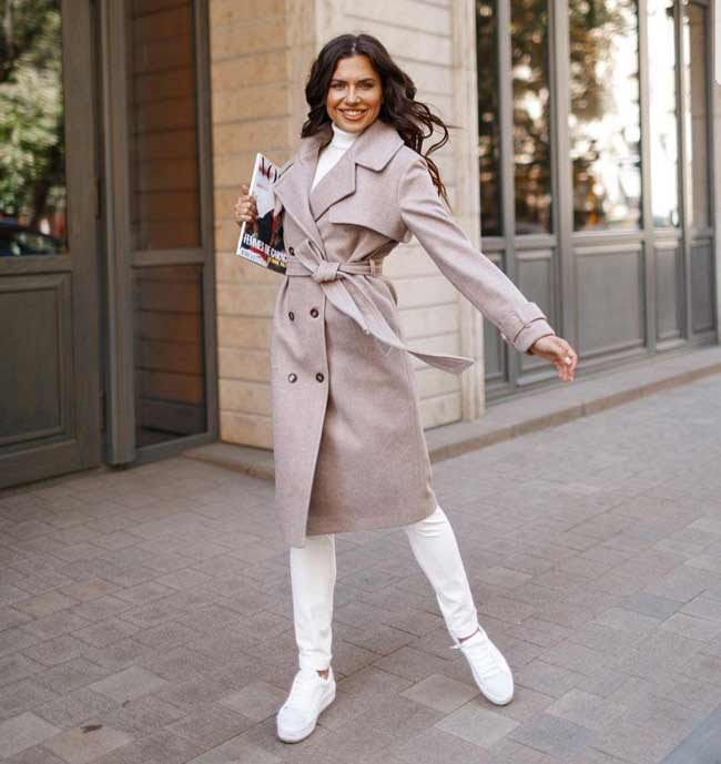 Модное осеннее пальто классика