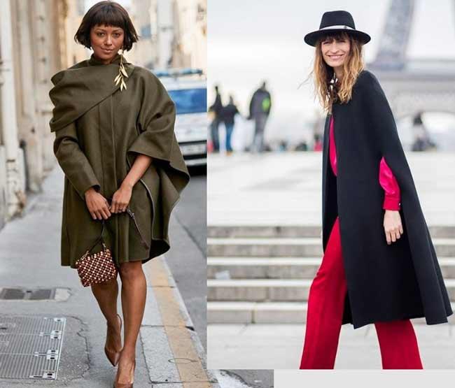 Уличный стиль пальто кейп