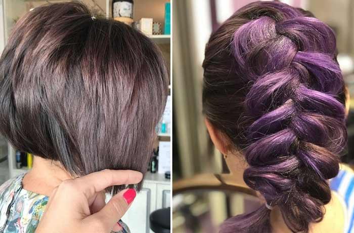 Фиолетовые ежевичные оттенки тренд осени