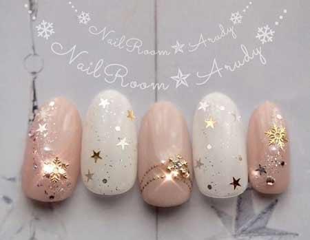 Nails новогодние звездочки