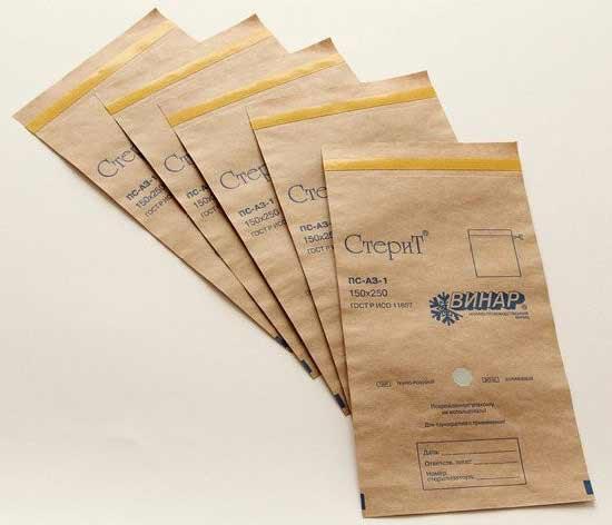 Крафт-пакет для стерильного инстумента