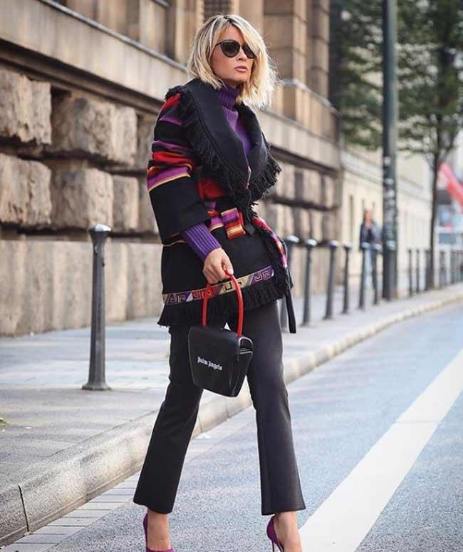 Кардиган на пуговицах с чем модно носить