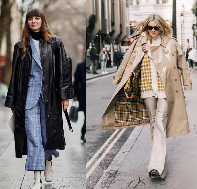 Кожаные пальто - с чем носить
