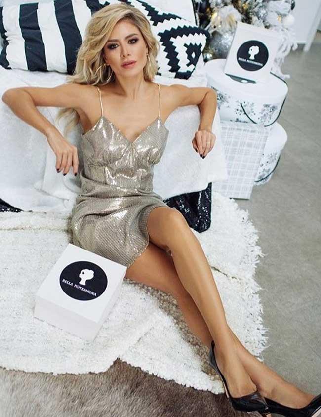 Платье-комбинация - новогодний наряд от Беллы Потемкиной