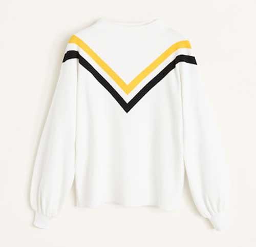 С контрастными вставками - свитер зима
