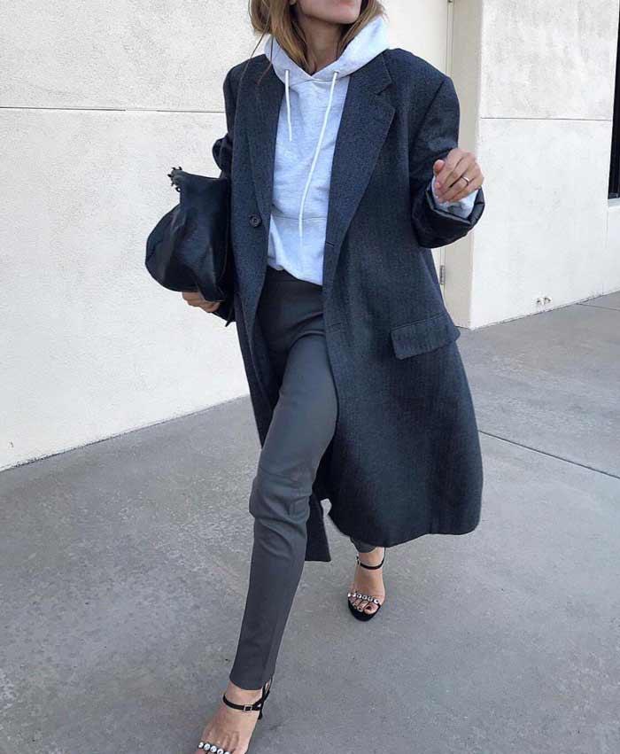 С чем носить худи - с классическими брюками