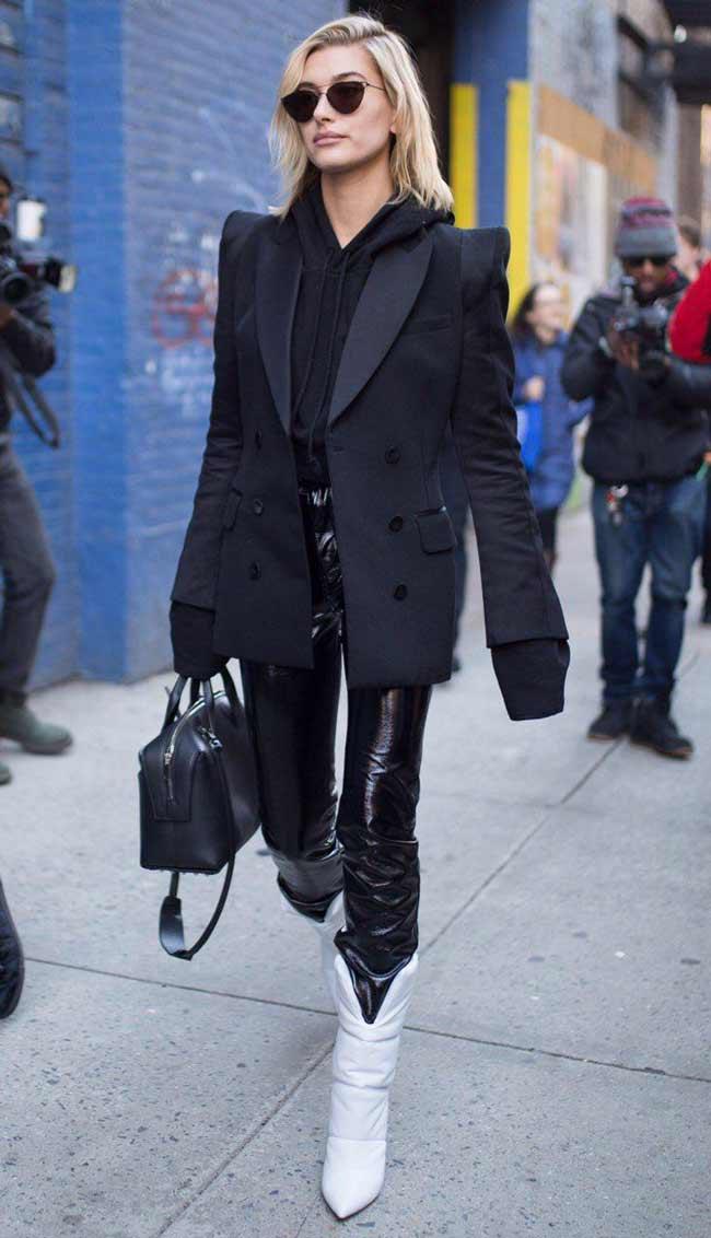 Пиджак + худи + брюки из винила