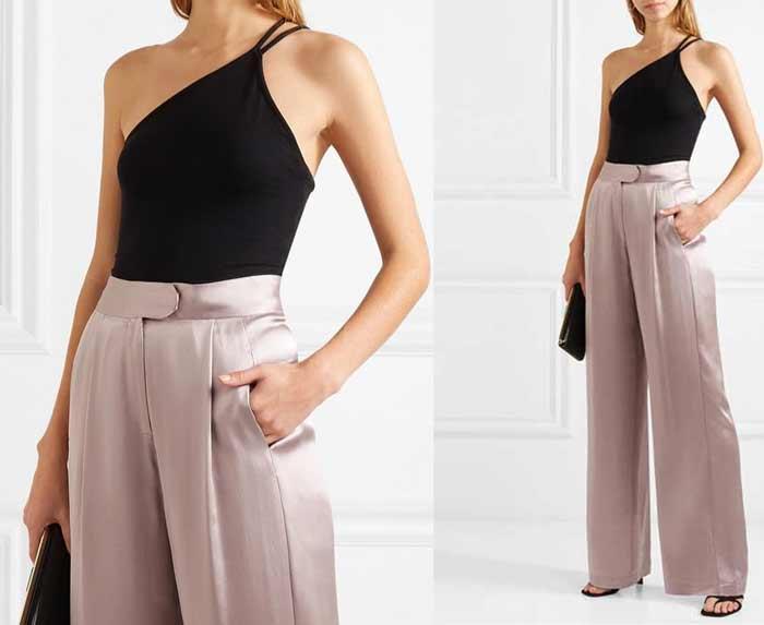 Шелковые брюки для встречи Нового года