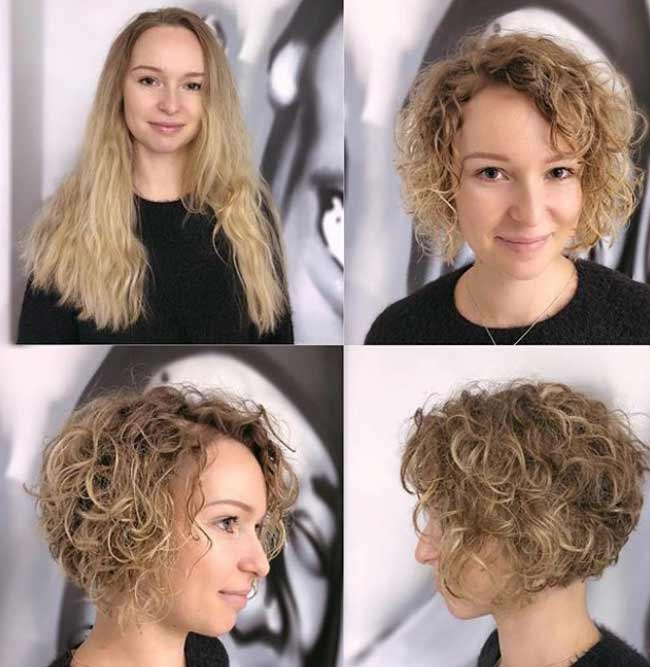 Стрижка кудрявых волос
