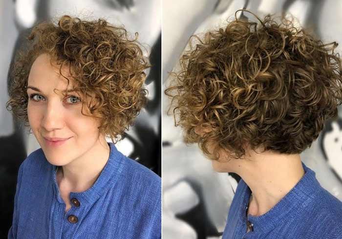 Короткие волосы - стрижки кудрявых волос