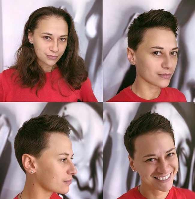 Суперкороткая стрижка на волнистые волосы