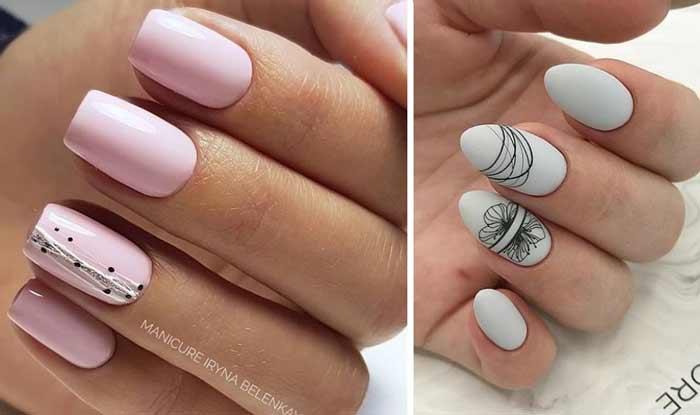 Дизайн Паутинка на ногтях фото