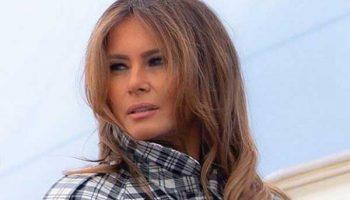 В клетку, белое, серое: любимые пальто Мелании Трамп, фото