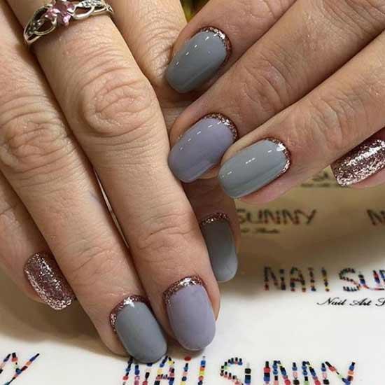 Новогодний маникюр 2019: модные идеи для коротких ногтей, 13