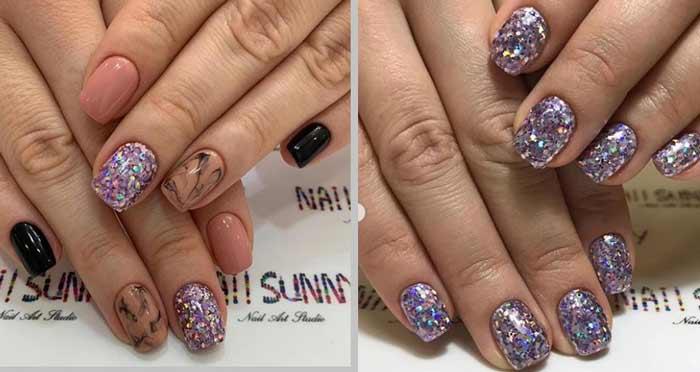 Новогодний маникюр 2019: модные идеи для коротких ногтей, фото 3