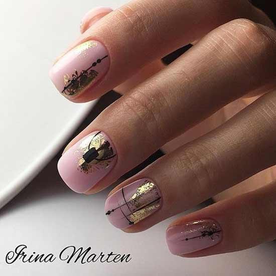 Фольга на розовом фоне