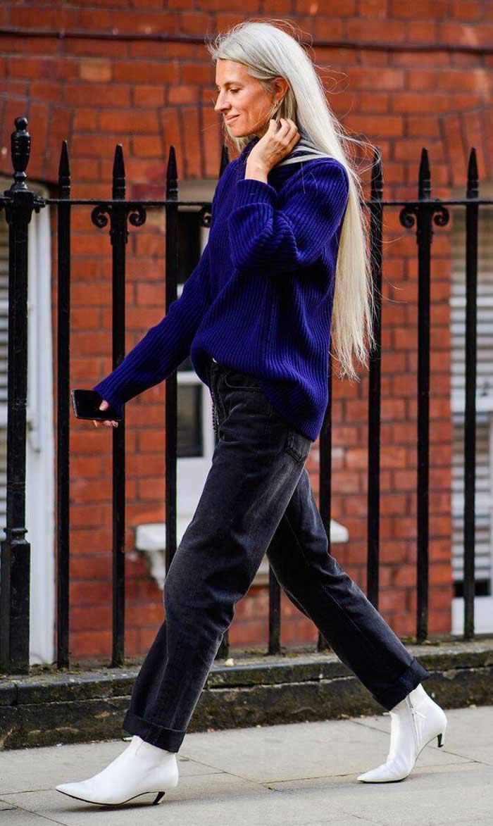 Свободный свитер - образы. фото