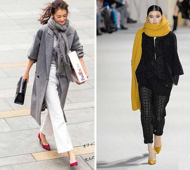 Как подбирать шарф к одежде