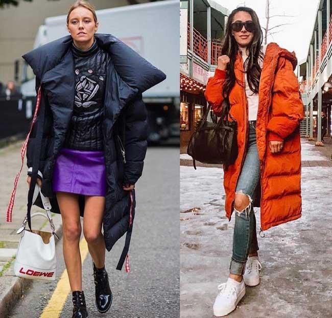 Самые модные пуховики - стиль звезд 2019