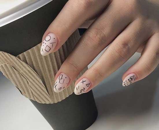 Красивый дизайн ногтей: что модно весной 2019, фото геометрия