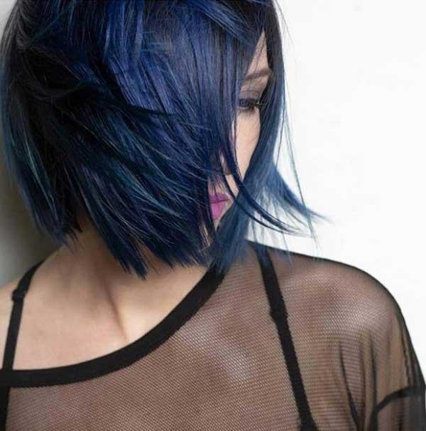 Модный темно-синий цвет волос