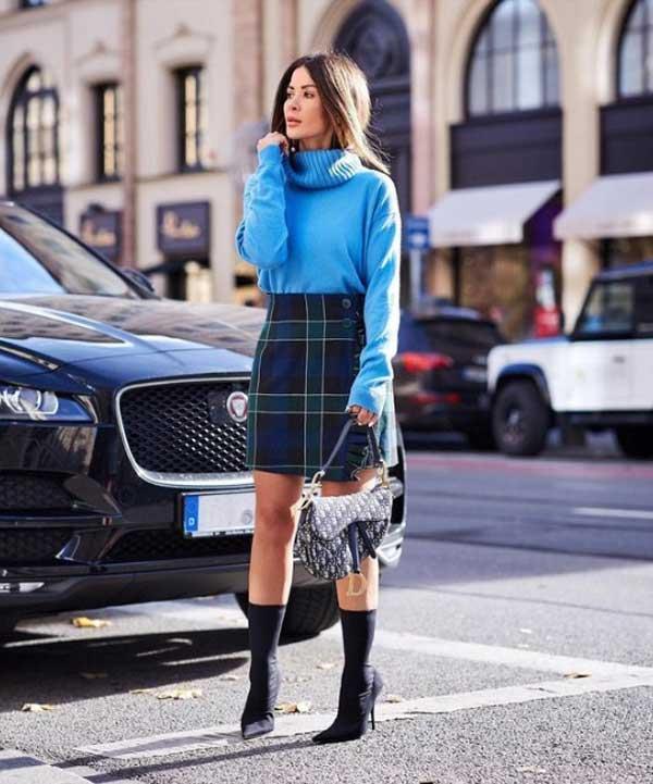 Модные юбки 2020 года: - в клетку