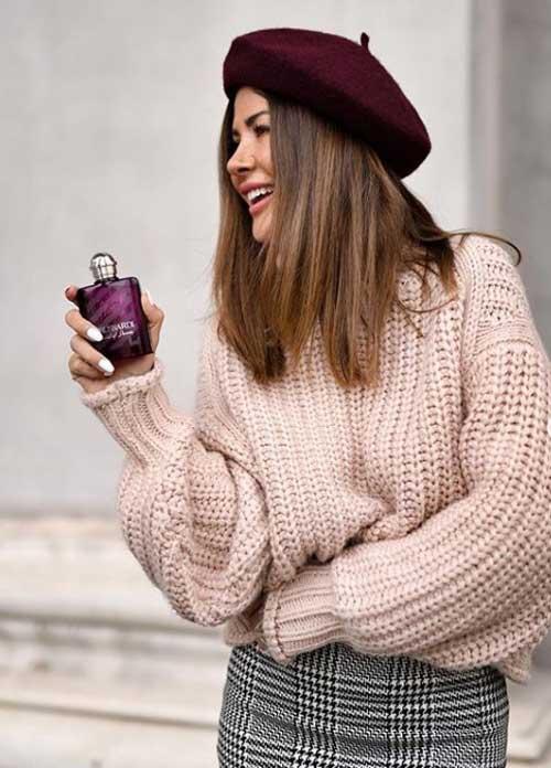 Модный бежевый свитер 2019