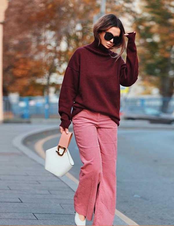 Модный свитер 2019 для полных