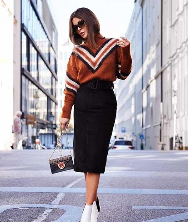 Модный свитер 2019 с принтом
