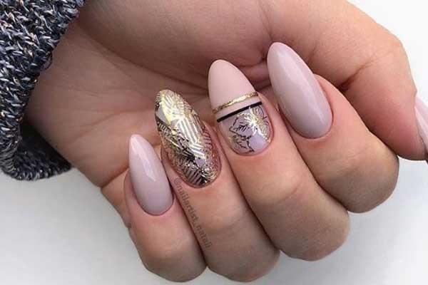 Розовый с золотом