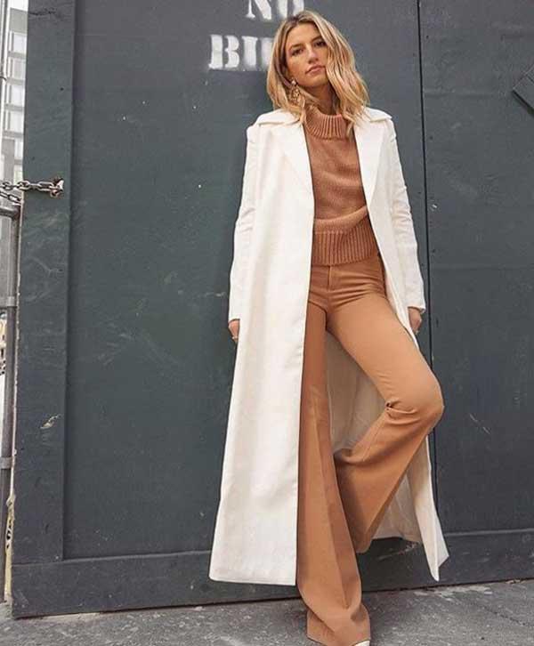 Модные образы с коричневыми оттенками в одежде