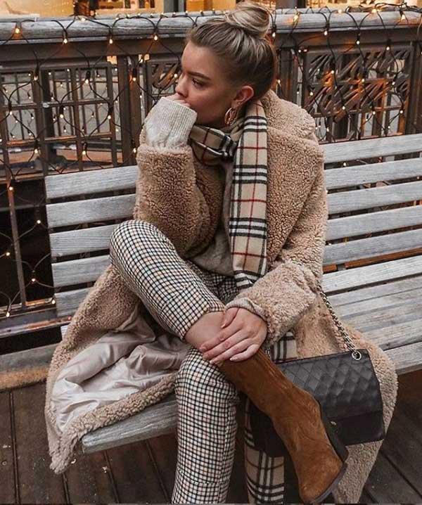 Посторение модного образа с коричневым цветом в одежде