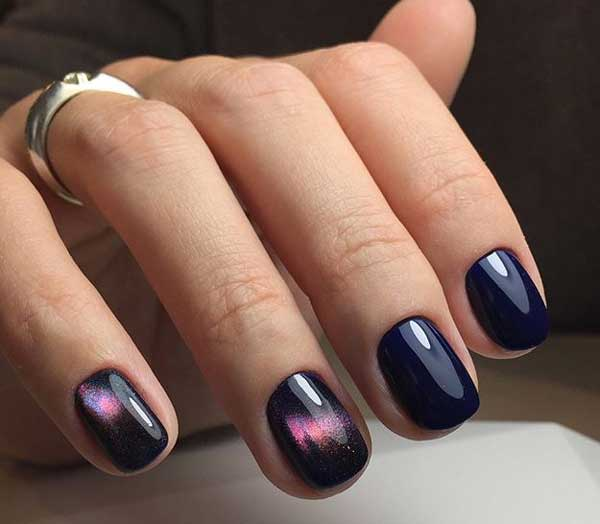 Темный маникюр для офиса короткие ногти