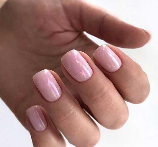 Розовый кварц идея маникюра 8 марта