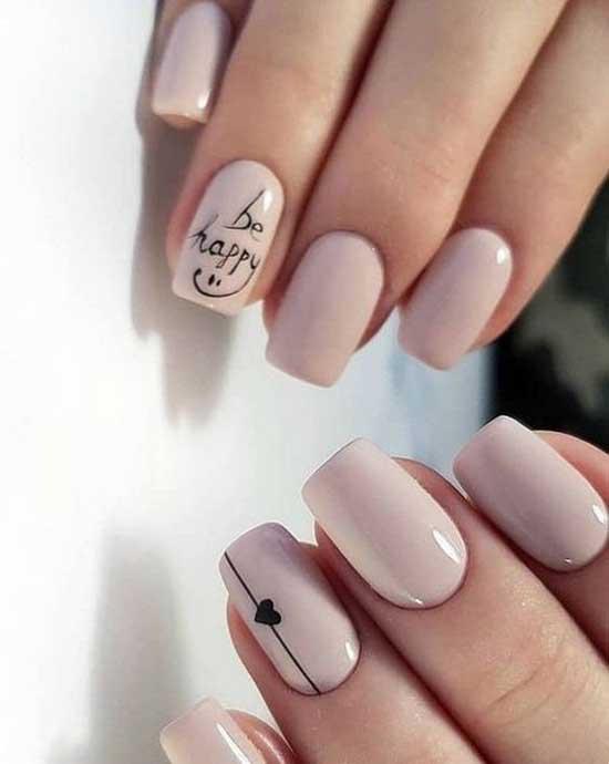 Надписи на ногтях к 14 февраля