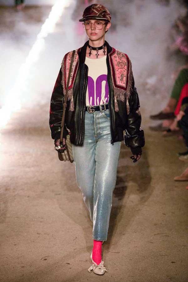 Модные джинсы 2019 Gucci коллекция