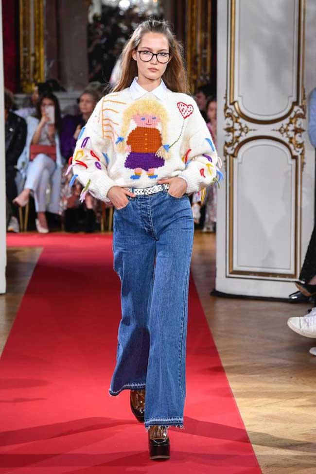 Модные джинсы клеш Paul & Joe