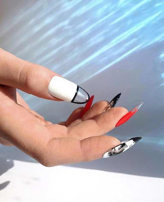 Прозрачный кончик ногтя