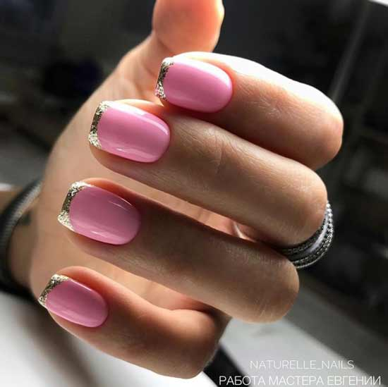Розовый френч фото