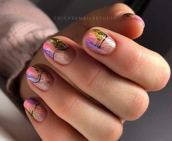 Negative nails и золотой