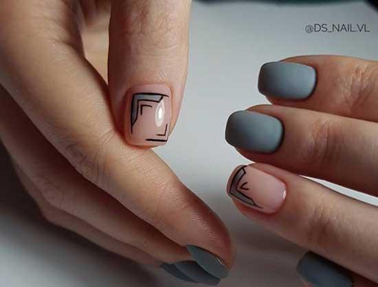 Прозрачный фон ногтей и геометрия