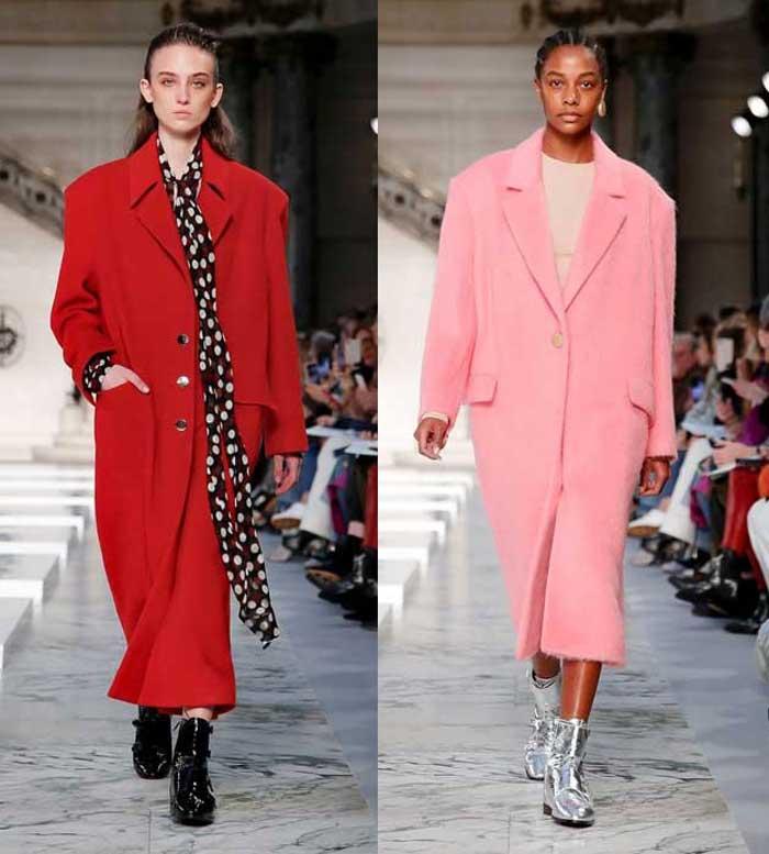 Kristina Fidelskaya красное и розовое модное пальто