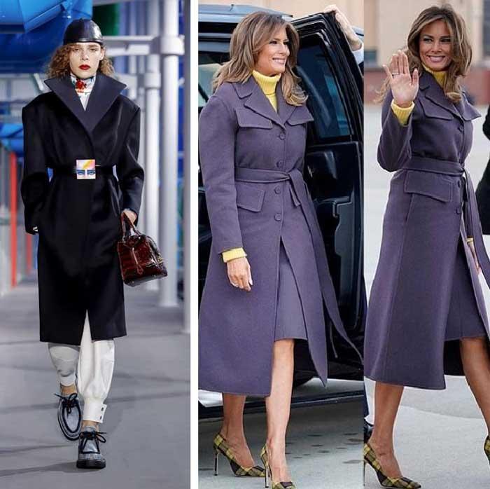 Louis Vuitton пальто с поясом